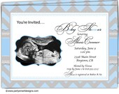 10 - Baby Shower Invitations/Ultra Sound Sonogram Baby Shower Invitations/Couples Baby Shower/Baby Shower Announcements/envelopes included