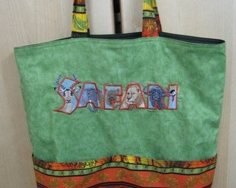 Safari Tote Bag Shopping Bag Diaper Bag