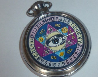REDUCED..Vintage Antique fortune telling Ouiji pocket watch game wiccan