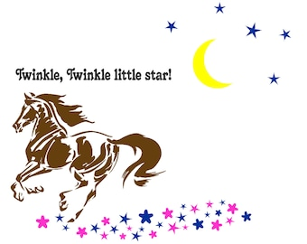 Horse decal-Horse quote sticker-Nursery decal-43 X 50 inches