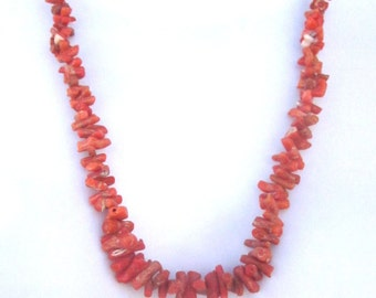 Natural Branch Coral Vintage Necklace Shell Heishi Native American Jewelry Shell Necklace