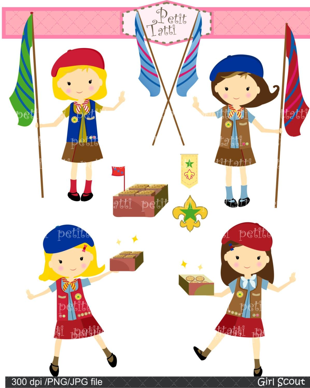 Girl Scout Daisy Symbol Girls clip art , digital clip