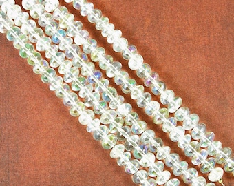 AB Crystal Quartz Rondelle Beads 60% off, qty 125