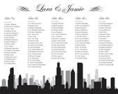 Chicago Seating Chart Printable PDF Custom Poster Digital Design Print File ONLY Seating Plan