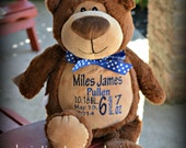 Personalized Stuffed Animal - Brown Bear