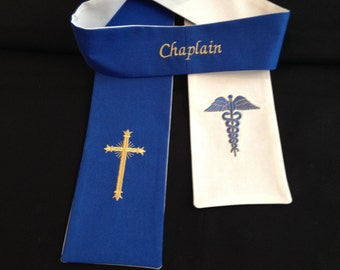 Reversible Chaplain Clergy Hospital Visitation Stole