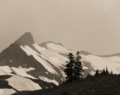Bad Weather North Cascades Fine Art Photography print - Landscape photography - Mountain photography - wilderness photo - sepia photo