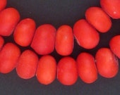 """60 Moroccan Resin Beads - African Trade Beads - African Resin - """"Cherry Resin"""" - Red Resin Beads - Made in Morocco ** (RES-RND-RED-120)"""