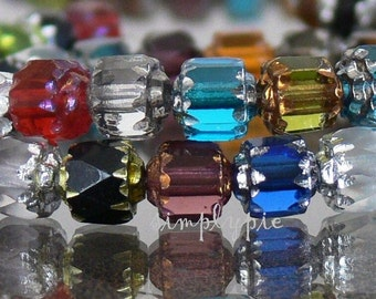 Cathedral MIX, Czech Glass Beads, 6mm Assorted 20