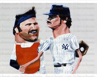 Thurman Munson and Ron Guidry, New York Yankees Photo Print