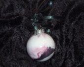 Hand painted glass ornament S27