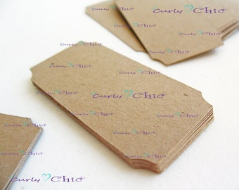 "50 Ticket Tag 1""x 2"" -Paper Rectangle Labels -Cardstock Small Tags -Paper die cuts -Rectangle Paper Labels -Tickets tags"