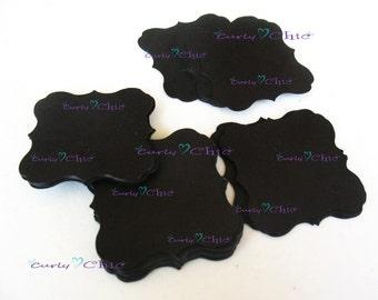 "72 Square Bracket Tags Size 1.50"" -Square Bracket Labels -Bracket paper die cuts -Bracket cardstock labels -Paper Bracket tags"