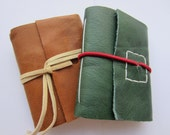 Set of 2 - Leaf and Bark Set - Green Journal & Brown Journal - A8 paper size - ONLY ONE
