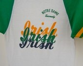 1970s 80s Fightin' Irish Notre Dame T Shirt Size S