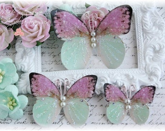 Daydreams Mauve Butterfly  Die Cut Embellishments for Scrapbooking or Cardmaking, Tag Art,  Mixed Media, Mini Albums