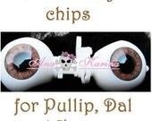 New Soft Resin OOAK REALISTIC custom Pullip, Dal, Taeyang eye chips set F13, by Ana Karina. UV laminated