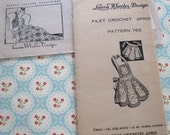 Vintage Laura Wheeler Designs Filet Crochet Apron Pattern 765