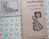 Vintage Laura Wheeler Designs Filet Crochet Apron Pattern 765