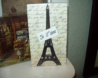 SMALL EIFFEL Tower block,PARIS decor,shabby chic,Paris bedroom decor,French bedroom,Paris apartment