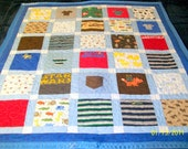 """Reserved for Natalie Ragoo - Custom Baby Quilts Baby Size 42"""" x 49"""" (20 to 30 Clothing Items) - Payment 2 of 4 - 2nd Quilt"""