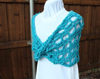 Crochet Pattern, Chunky Cowl Pattern, Crochet Scarf Patterns, Trellis Crochet Designs, Easy to Crochet Mobius Wrap
