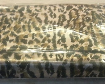 Cheetah Satin approximately 8 yards