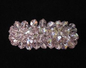 Lavender AB Cha Cha Expansion Bracelet, Crystal Beads