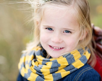 Striped Jersey Knit Toddler/Junior Infinity Scarf -