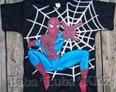 Sp!d-R M-n  shirt boys Boutique custom painted 12 18 24 2 3 4 5 6 8 10