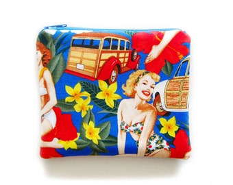 Zipper Pouch - Retro Pin-up Girls - Available in Small / Large / Long