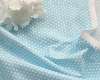 Petit Dots on Soft Sky cotton, U032