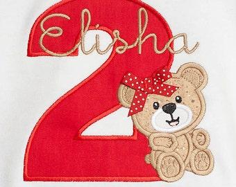 Teddy Bear Birthday Shirt, Bear Birthday Shirt, Girls Bear Birthday Shirt, Custom Birthday Shirt, Boys Birthday Shirt, Personalized Shirt