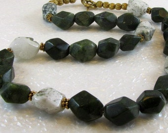 Jade and Agate Necklace