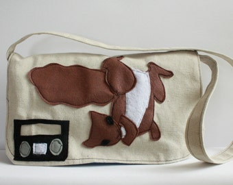 Breakdancing squirrel Mini Messenger-Kids Purse-kids mini messenger