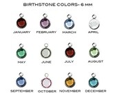 Add a Silver Plated Swarovski Crystal Birthstone Channel Drop Charm to any Necklace and Bracelet From Sarah Of Sweden, Gifts For Women