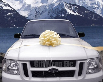 Extra Large Ivory Bow Car Gift Wedding Baptism Shower Party Decoration