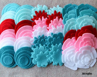 Sugar and Spice - Super Pack - 132 Die Cut Felt Flowers and Circles