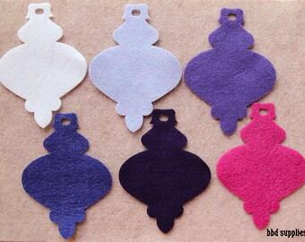 Sugar Plum Fairy - Spindle Ornaments - 12 Die Cut Felt Shapes
