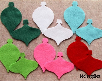 Fa La La - Ornaments - 24 Die Cut Felt Shapes
