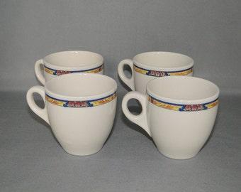 Vintage Set of Four Syracuse Restaurant Ware Demitasse Expresso Cups