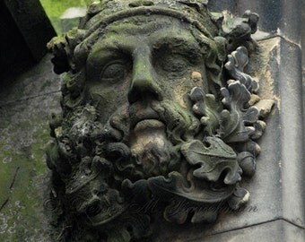 St Giles Cathedral Green Man - Scottish Art - Edinburgh Scotland Royal Mile Architecture - Pagan Art - 12x12 Limited Edition Fine Art Photo