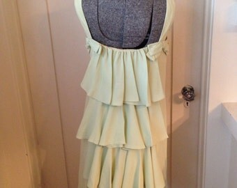 Vintage 1960s Light Lime Green Cocktail Party Dress