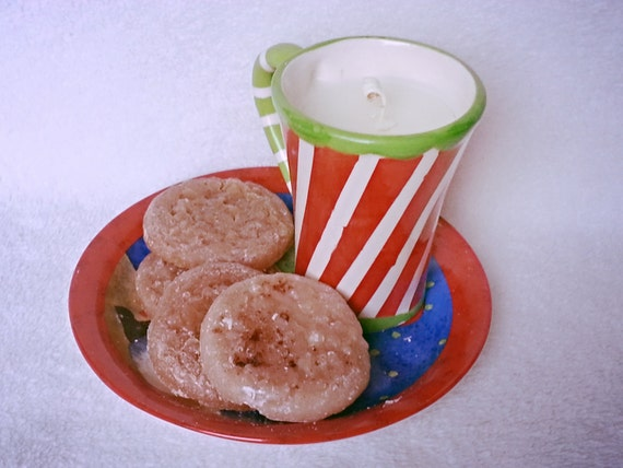 Christmas Candles and Wax Tarts Cookies for Santa in Oatmeal Cookie Candle Melts and Buttercream Candle