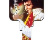 ELVIS PRESLEY Key BLANK Vintage Celebrity House Keys Blanks 50s Fifties Elvis On Stage 73 Sc1 House Door Key Blank Gospel Rock and Roll