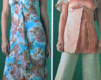 Sundress, Gown, Top, Pants, and Capelet Sewing Pattern UNCUT Simplicity 4174 Sizes 6-14