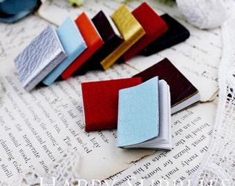Mini Mix Color Leather Handmade Book