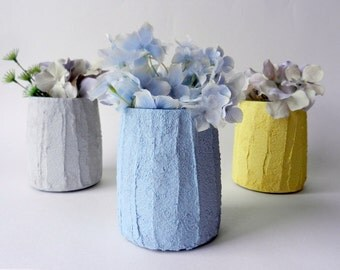 Trio of Vases / Instant collection / colorful spring Home Decor / made to order/ set of 3 /  mini vases