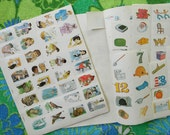 Vintage 1970s Books of Picture Stickers