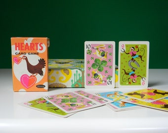 Vintage Whitman Hearts Card Game - Complete in Box